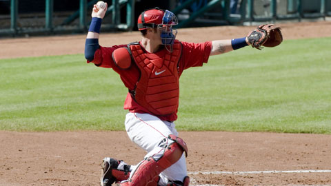 Saltalamacchia will join Pawtucket, Triple-A affiliate of the Boston Red Sox.