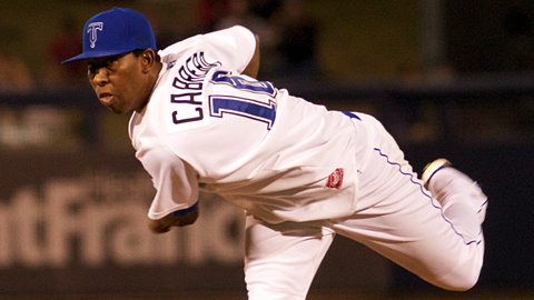 Edwar Cabrera retired the first 24 batters he faced on Tuesday.